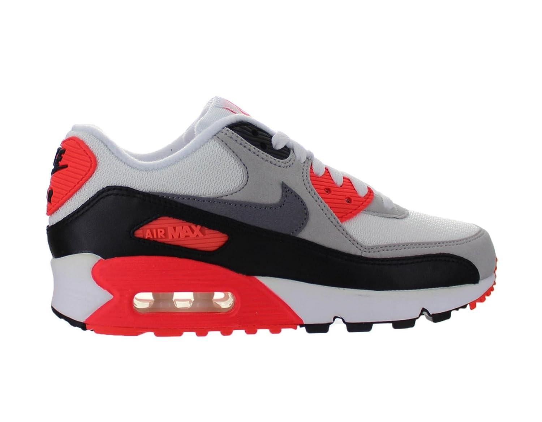 Nike Air Max 90 Og Infra Red Mesh Womens Lifestyle Shoe White Grey