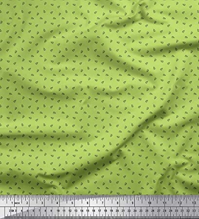 Soimoi Verde saten de seda Tela Microscopio tela de camisa ...