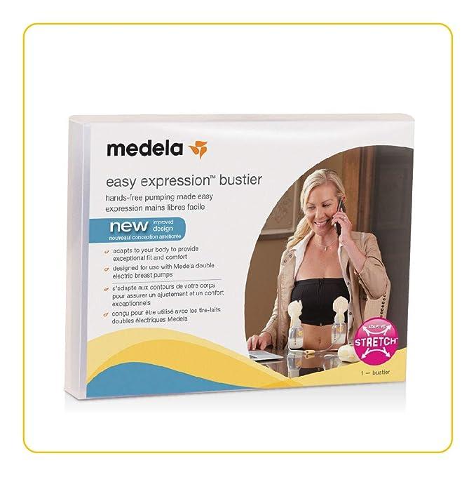 5959cd3066150 Amazon.com  Medela Easy Expression Bustier Hands Free Breastmilk Pumping Bra   Baby