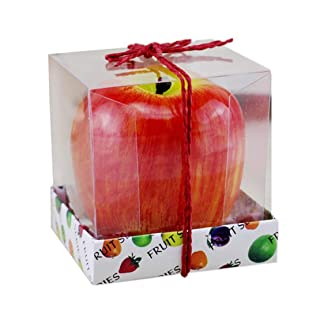 Sanzhileg Lovely Cute Design Red Apple Shape Frutta profumata Candela Home Decoration Candela di Natale Candela di Compleanno Natale Decorazioni