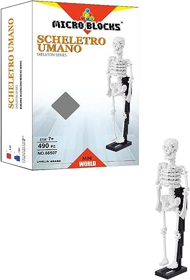Set Construction Human Skeleton Micro Blocks wlt-66507