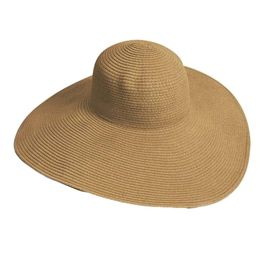 Amorar Fashion Tesa larga a tesa larga Cappello da sole fatto a mano Cappello a tesa larga Cappello da spiaggia con visiera parasole Cappello a tesa larga per donna