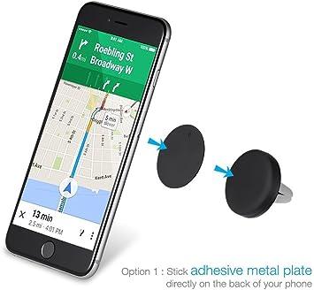 Soporte magnético para Coche Universal para Cualquier teléfono móvil Smartphone o GPS. con o sin Funda. ¡Muy fácil! Soporte Fuerte. No se Nota. Aumenta la Seguridad Vial.: Amazon.es: Electrónica
