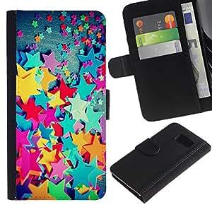 Estuche de Cuero Billetera del tirón Tarjeta de la Bolsa Titular de Suave Caso para Samsung Galaxy S6 SM-G920 / CECELL Phone case / / Plastic Color Kids Girl'S Girly /