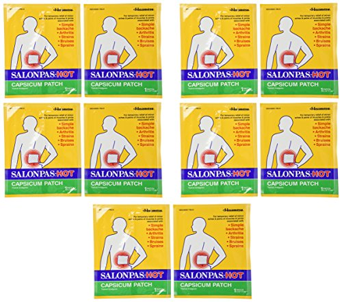 Salonpas Hot Capsicum Patch, 10 Count