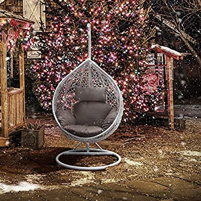 Yaheetech-Rattan-Swing-Chair-Patio-Garden-Wicker-Hanging-Egg-Chair-Hammock-wCushion-and-Cover-Indoor-or-Outdoor-Max150kg-White