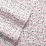 Cuddl Duds PINK CATS Flannel Sheet Set TWIN Size 3-Piece (2016) Cat by Cuddl Duds