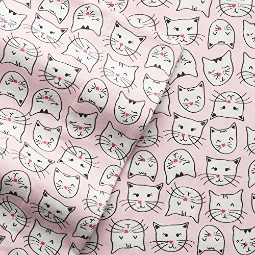 Cuddl Duds PINK CATS Flannel Sheet Set QUEEN Size 4-Piece (2016) Cat by Cuddl Duds