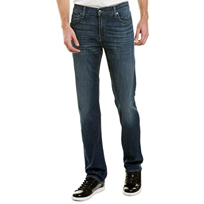 7 For All Mankind Standard Men's Straight Leg Jeans (Blue, 32): Clothing