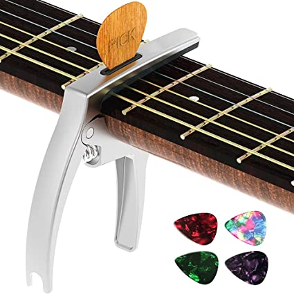 silver FAST FREE USA SHIPPING!! Acoustic//Electric Guitar Capo