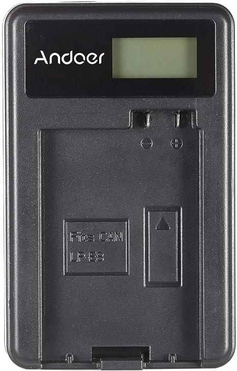 Festnight Andoer Portable LED Power Charger with 2pcs 1180mAh LP E8 Rechargeable Li ion Lithium Batteries for Canon EOS 550D 600D 700D Robel T2i T3i T