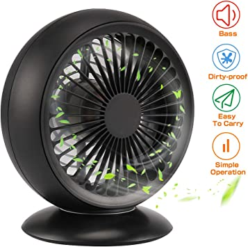 CrazyFire Mini Ventilador USB Ventilador Portatil Recargable ...
