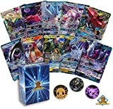 5 Pokemon Card Lot All Legendary GX Ultra RARES! NO Duplication! 1 Random Pokemon Coin! Includes Golden Groundhog Deck Box!