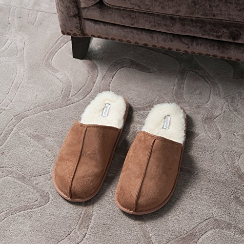 Pantofole Kushyshoo Uomo Slip-on Coperta Allaperto Fluff Lanugine Tan