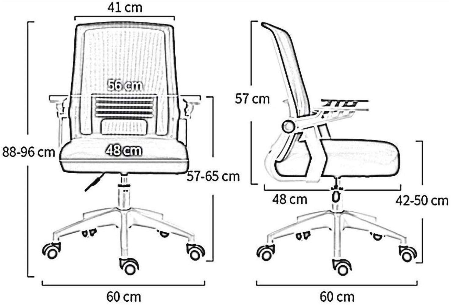 Barstolar Xiuyun nät kontorsstol fällbart armstöd hem dator stol skrivbord stol med ländrygg stöd roterande komfort säte lutningsfunktion svart ram lager gRÖN gRÖN