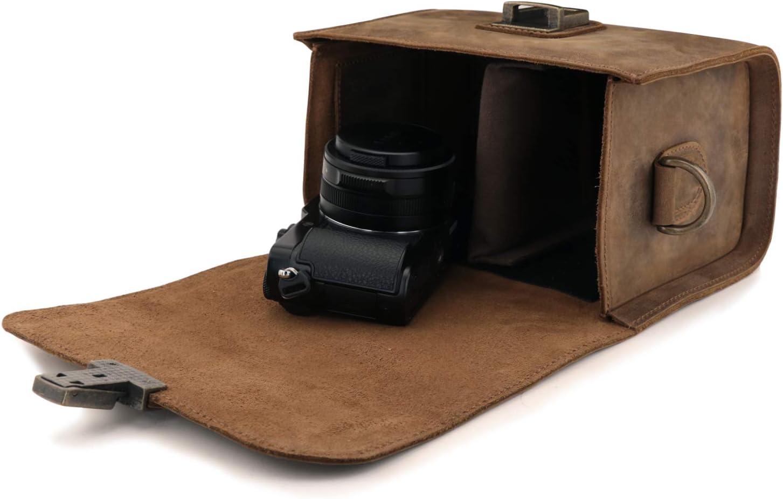 MegaGear Pebble MG1724 - Bolso Bandolera de Piel para cámaras ...