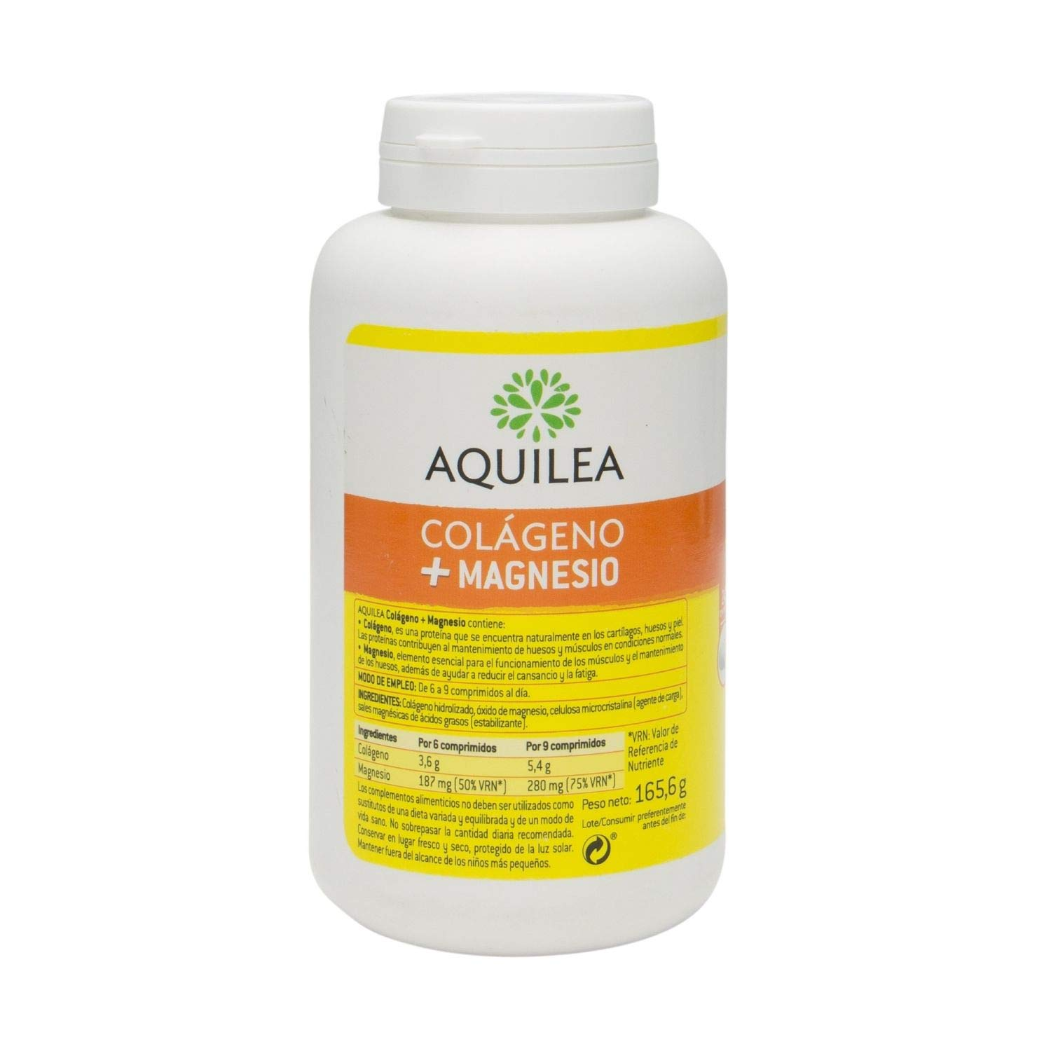 Amazon.com: Aquilea Collagen+Magnesium - 240 tabs - for Bone and Joint Well-Being - Spain: Health & Personal Care