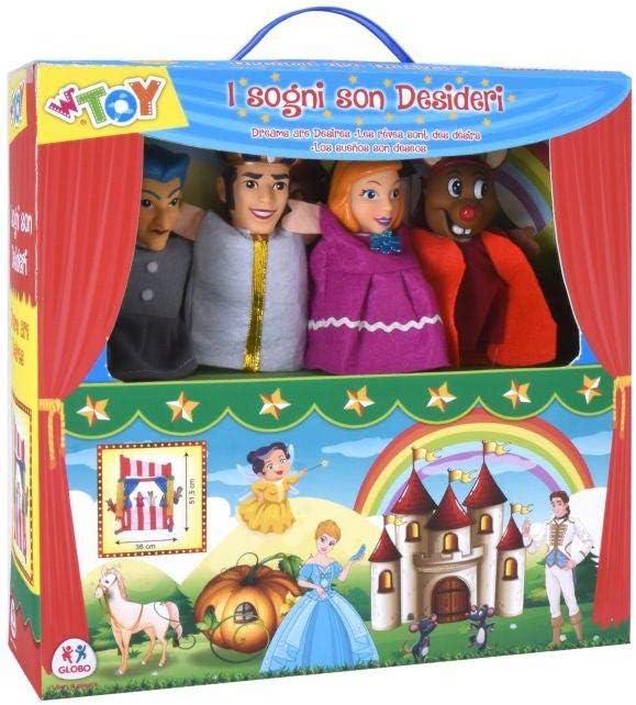 GLOBO Theatre 51.5X36 Cm W/4 Puppets (39151), Multicolor (1)