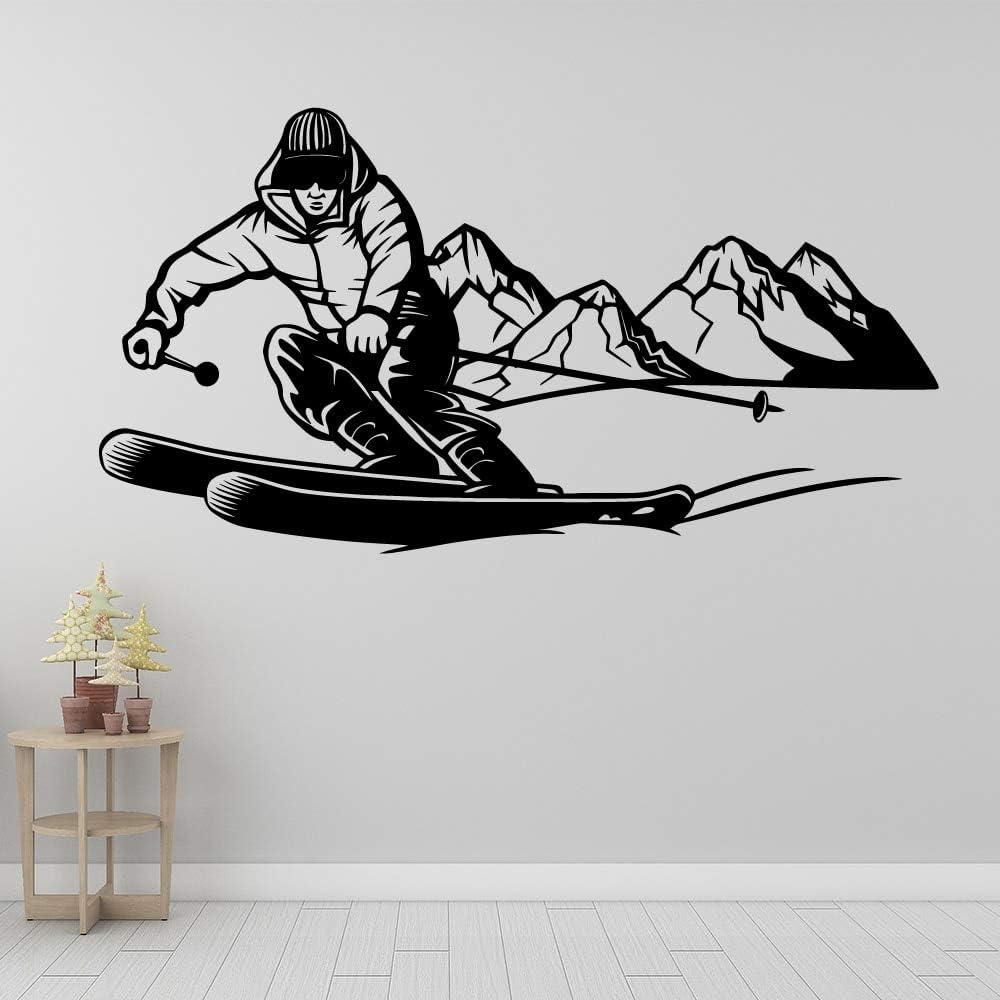YuanMinglu Pegatinas de Pared Decorativas de esquí Pegatinas de Pared para el hogar calcomanía de Arte de Pared Decorativa a Prueba de Agua 50x93 cm