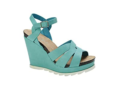 794502f09a Amazon.com | Nature Breeze Outlook-01 Strappy Open Toe Platform Wedges |  Shoes