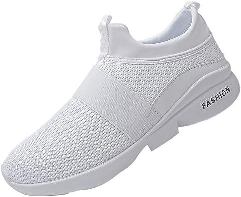 Logobeing Zapatillas de Running Hombre - Zapatillas de Malla Transpirable Zapatillas de Deporte Sin Cordones Wild Slip-On Zapatillas para Correr 39-44: Amazon.es: Zapatos y complementos