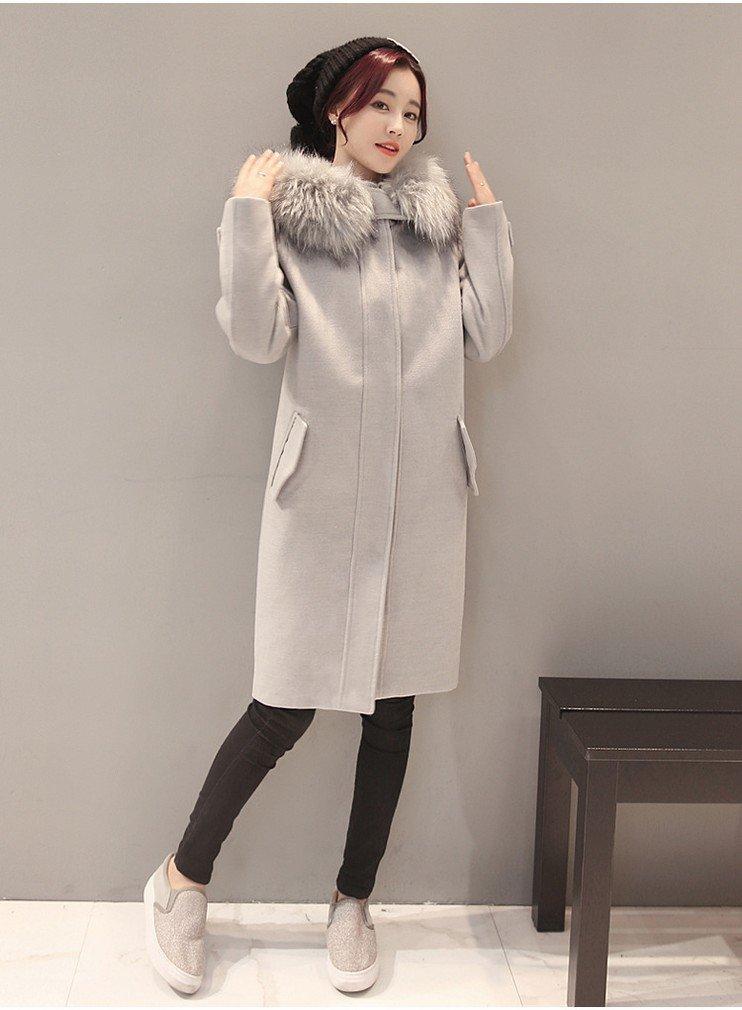 W coat Herbst und Winter Frauen 'Mode Lose Dünnen Mantel Dicker Baumwolle Mantel Mantel Mantel Weiblich