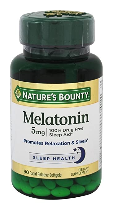 Image Unavailable. Image not available for. Color: Natures Bounty Melatonin 5mg ...