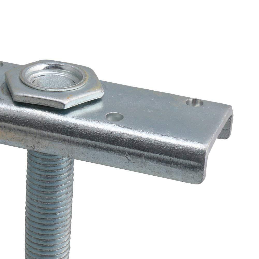 Dia 54mm Steel Double Wheel Rail Hanging Trolley Silver Sliding Track Roller Hanging Barn Door Rail Trolley Wheel H5 w/Nuts by Happynest Box Rail Hangers (Image #5)