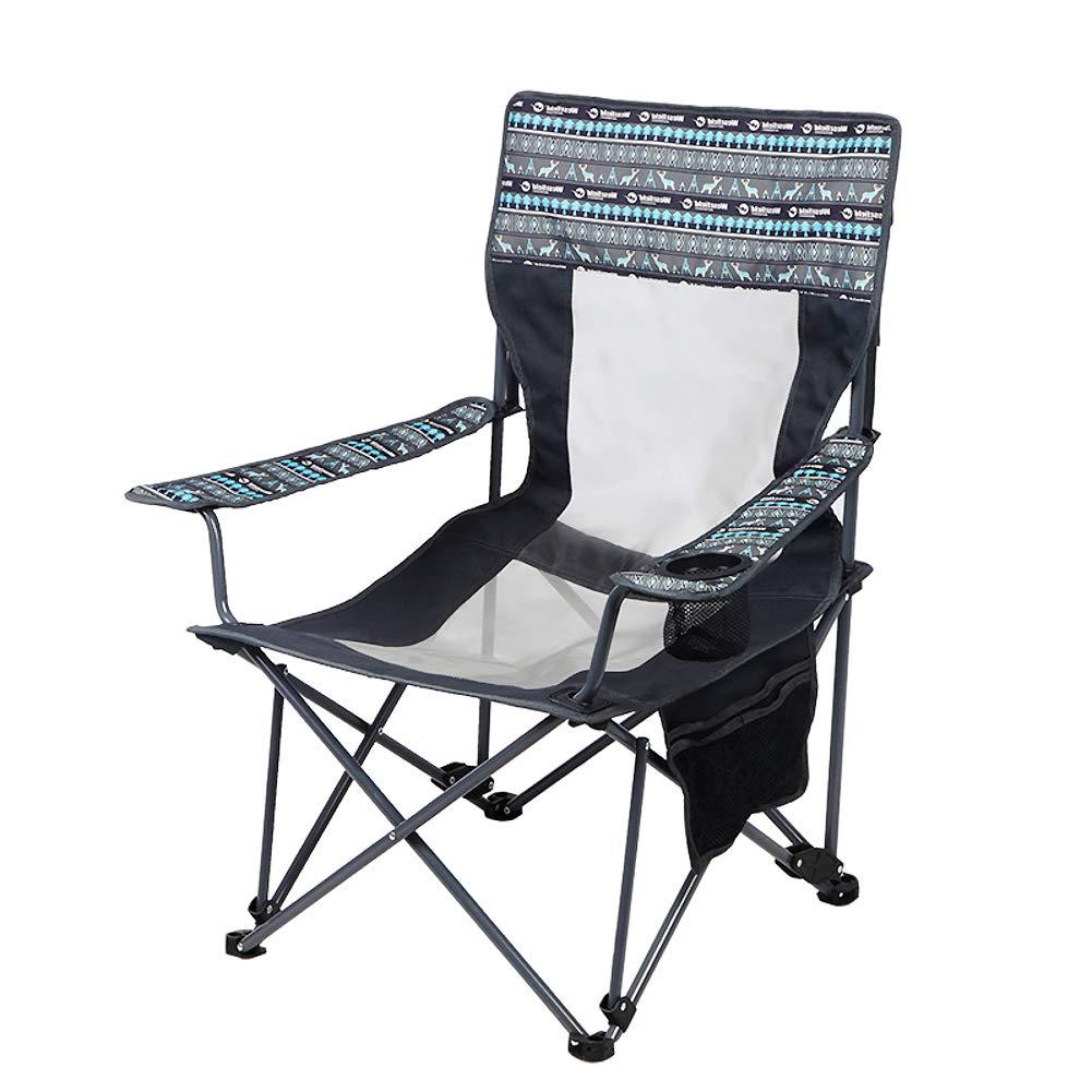 ポータブル 超軽量 キャンプ用品 椅子, 屋外折りたたみ椅子 通気性メッシュ デザイン カップ ホルダーを持つ 屋外 バーベキュー ハイキング 祭  A B07PNQMTLX