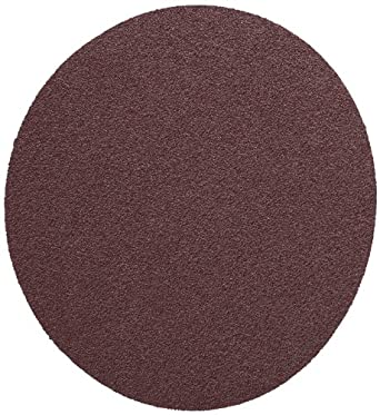 "3M  PSA Cloth Disc 348D, X Weight Cloth, PSA Attachment, Aluminum Oxide, 5"" Diameter, P100 Grit, Brown (Pack of 50)"