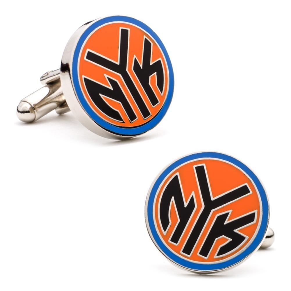 Mens Silver Plated NBA New York Knicks NYK Logo Cufflinks