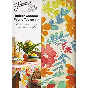 Fiesta Garden Floral Umbrella Tablecloth 70 Round Outdoor Fabric
