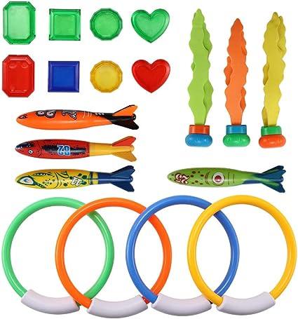 Nabance 29Stk Tauchspielzeug Tauchen Spielzeug Unterwasser Schwimmbad Spielzeug,