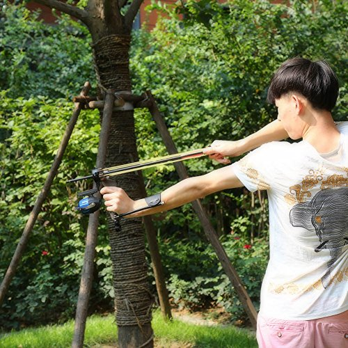 High Velocity Hunting Fishing Slingbow Wrist Slingshot Arrow Rest Catapult by VERY100
