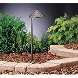 15315AZT Side Mount 1LT Incandescent/LED Hybrid LV Landscape Path & Spread Light, Textured Architectural Bronze Finish