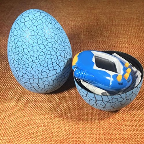 Orland Crack Egg Digital Pet Tumbler Toys Virtual Electronic Game Console For Keychain Pet Electronic Game Console Crack  Blue