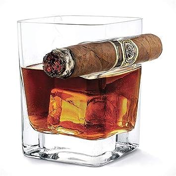 FZC-YM Vaso de Whisky para Puros, Vaso Antiguo con Soporte ...