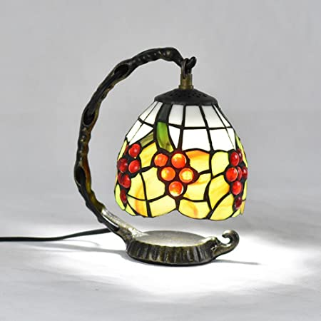 Wming 5 Inch Tiffany Table Lamp Retro Style Stained Glass Handmade
