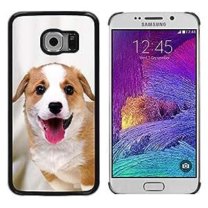 Be Good Phone Accessory // Dura Cáscara cubierta Protectora Caso Carcasa Funda de Protección para Samsung Galaxy S6 EDGE SM-G925 // Harrier English Foxhound Coonhound
