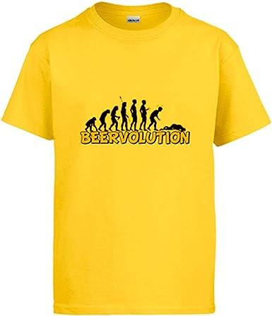 Camiseta Beervolution evolución Humana con la Cerveza Humor: Amazon.es: Ropa y accesorios