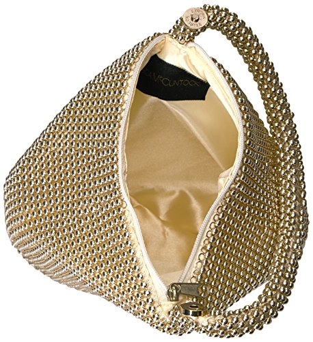 Jessica McClintock Staci Mesh Wristlet Pouch, Light Gold: Amazon.co.uk: Shoes & Bags