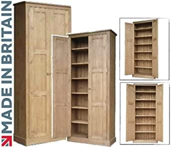 Remarkable Solid Pine Cupboard 6Ft 6 Tall 2 Door Multi Purpose Pantry Larder School Shoe Linen Hallway Or Kitchen Storage Cabinet Choice Of Colours No Home Interior And Landscaping Fragforummapetitesourisinfo