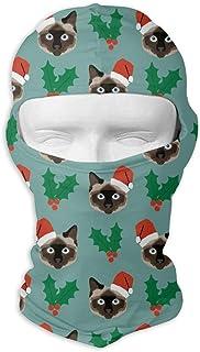 Xukmefat Masque complet de masque de visage de modèle de chats de Noël masque résistant au vent de Balaclava