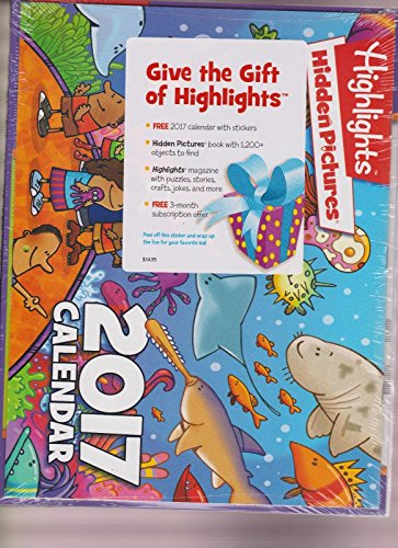 HIGHLIGHTS MAGAZINE HOLIDAY PACK 2016, W/2017 CALENDAR & MORE, SEALED PACK.