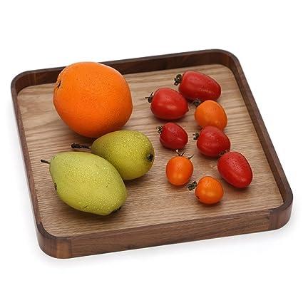 Placa de fruta de madera sala de estar moderna creativa placa de fruta seca placa de