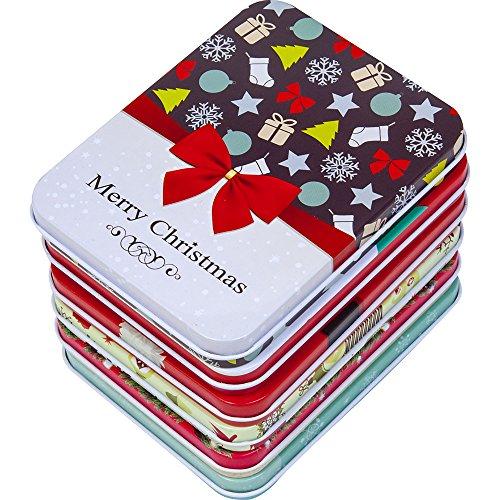 [해외]선물 부티크 6 팩 크리스마스 홀리데이 기프트 카드 주석 홀더 세트/6 Pack Christmas Holiday Gift Card Tin Holders Box Set by Gift Boutique