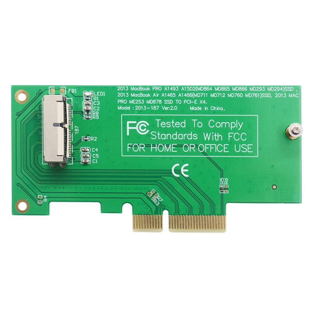 2013-2014 MacBook Air A1465 A1466 Pro A1502 A1398 MD712 SSD to PCI-e 4X adapter