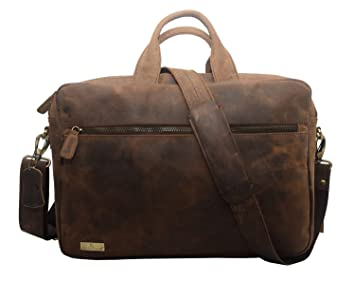 a4aa3faa248 Image Unavailable. Image not available for. Colour  Leaderachi-100% Genuine  Vt Leather Unisex Laptop Briefcase ...