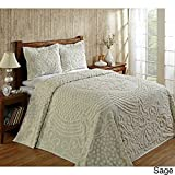 Better Trends Florence Soft Cotton Chenille Bedspread by Sage Queen