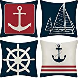 JOTOM Set of 4 Decorative Cushion Covers Square Throw Pillow Covers Home Decor Design Set Covers Cushion Case for Sofa…